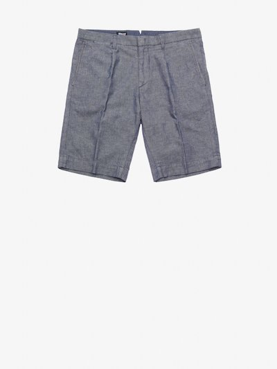 STRETCH COTTON AND LINEN BERMUDA SHORTS