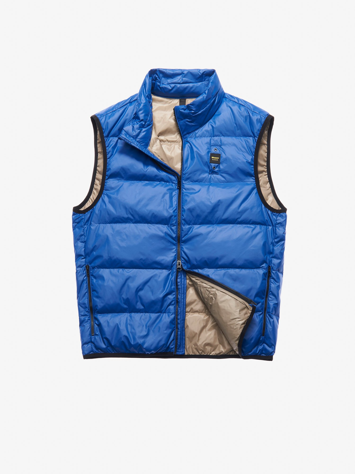 Blauer - PARKER DOWN VEST - Blue Inside Light Hazelnut - Blauer