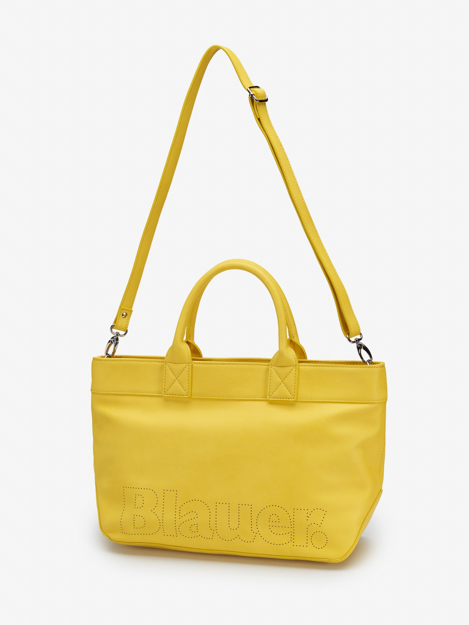 Blauer - SHOPPER LARGE LEATHER TOTE - Mineral Yellow - Blauer