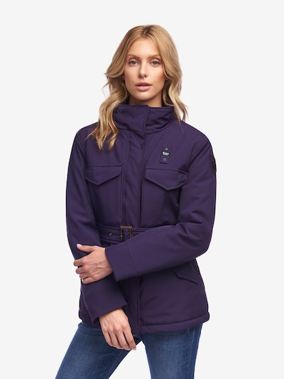 ROSE PADDED JACKET WITH BELT