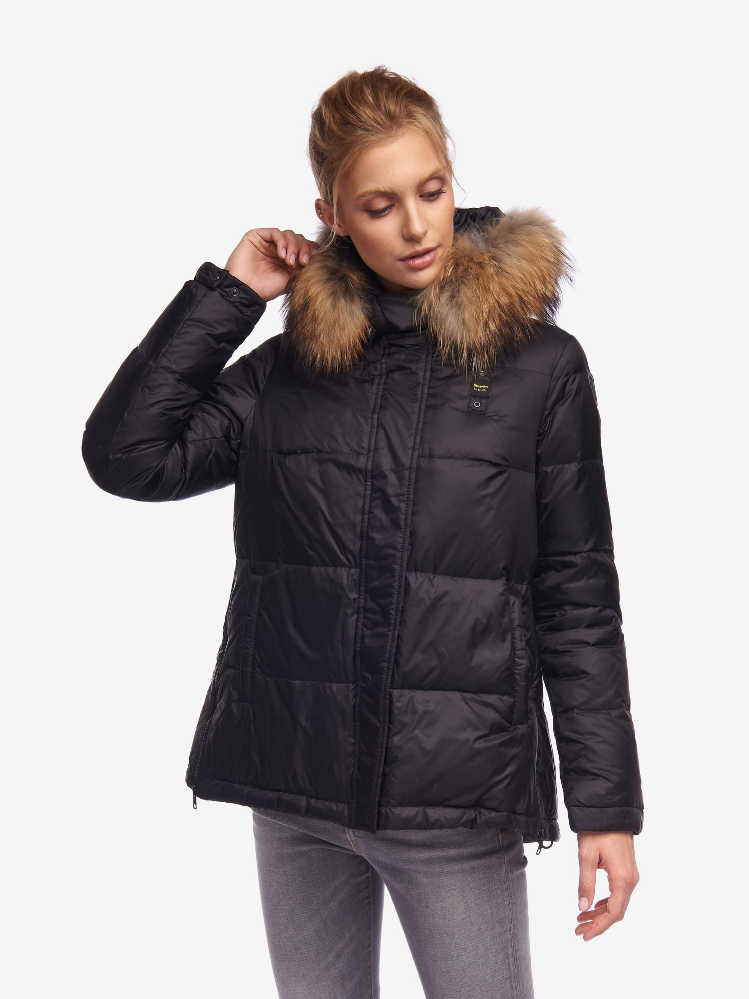 Blauer - HUNT FLARED DOWN JACKET - Black - Blauer