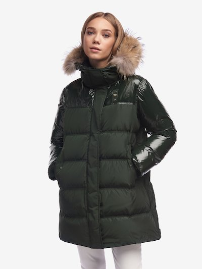 SHAW LONG NYLON DOWN JACKET