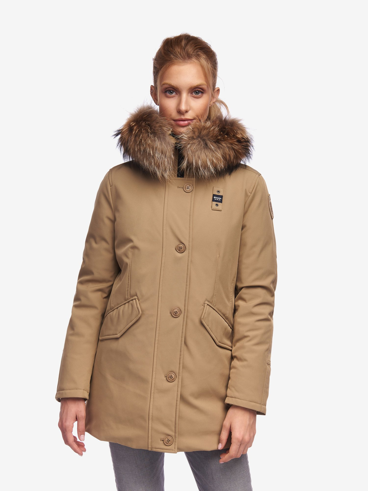 WILKINSON NEOPRENE PARKA WITH FUR - Blauer