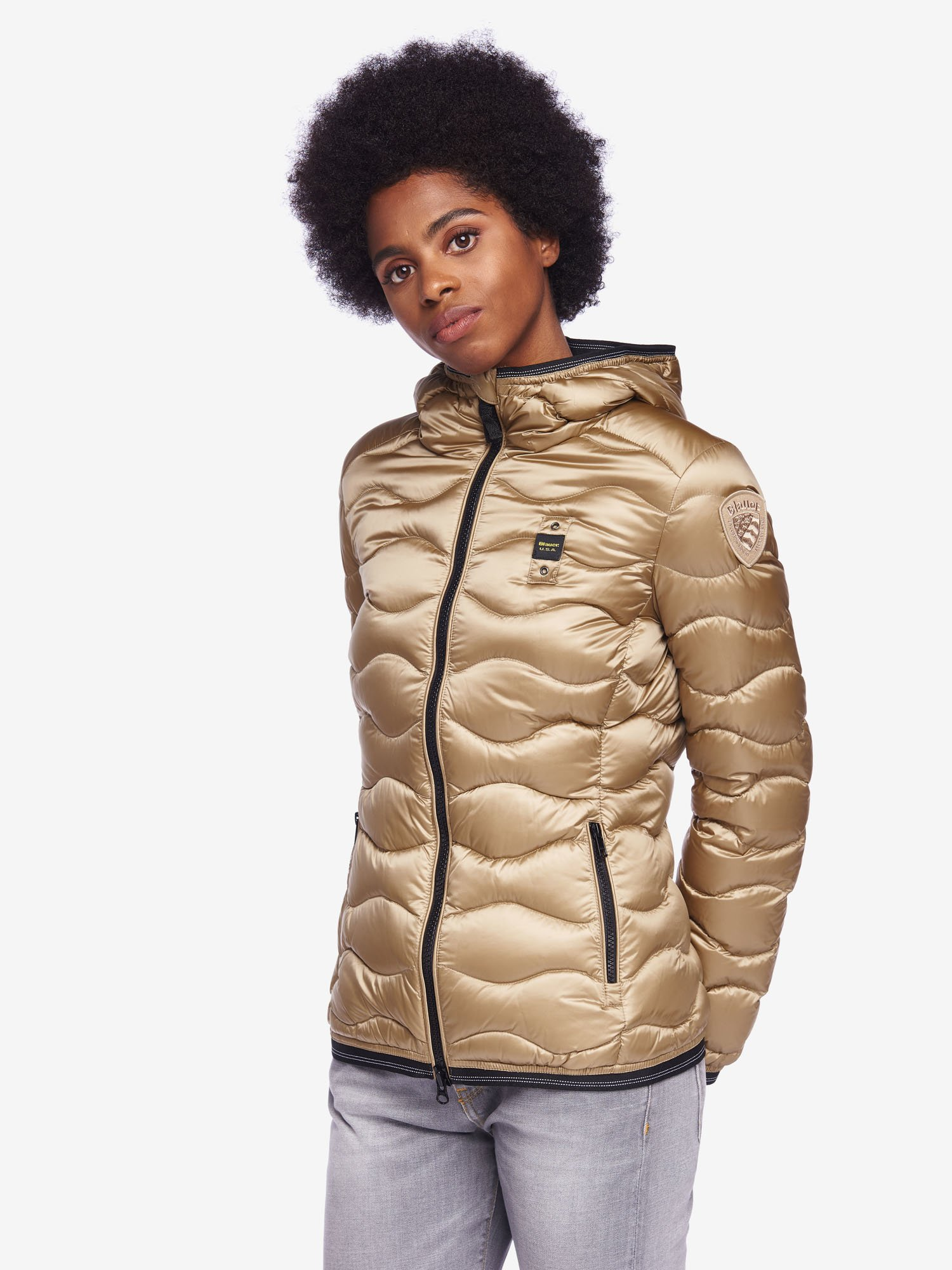 KENNEDY IRIDESCENT NYLON DOWN JACKET - Blauer