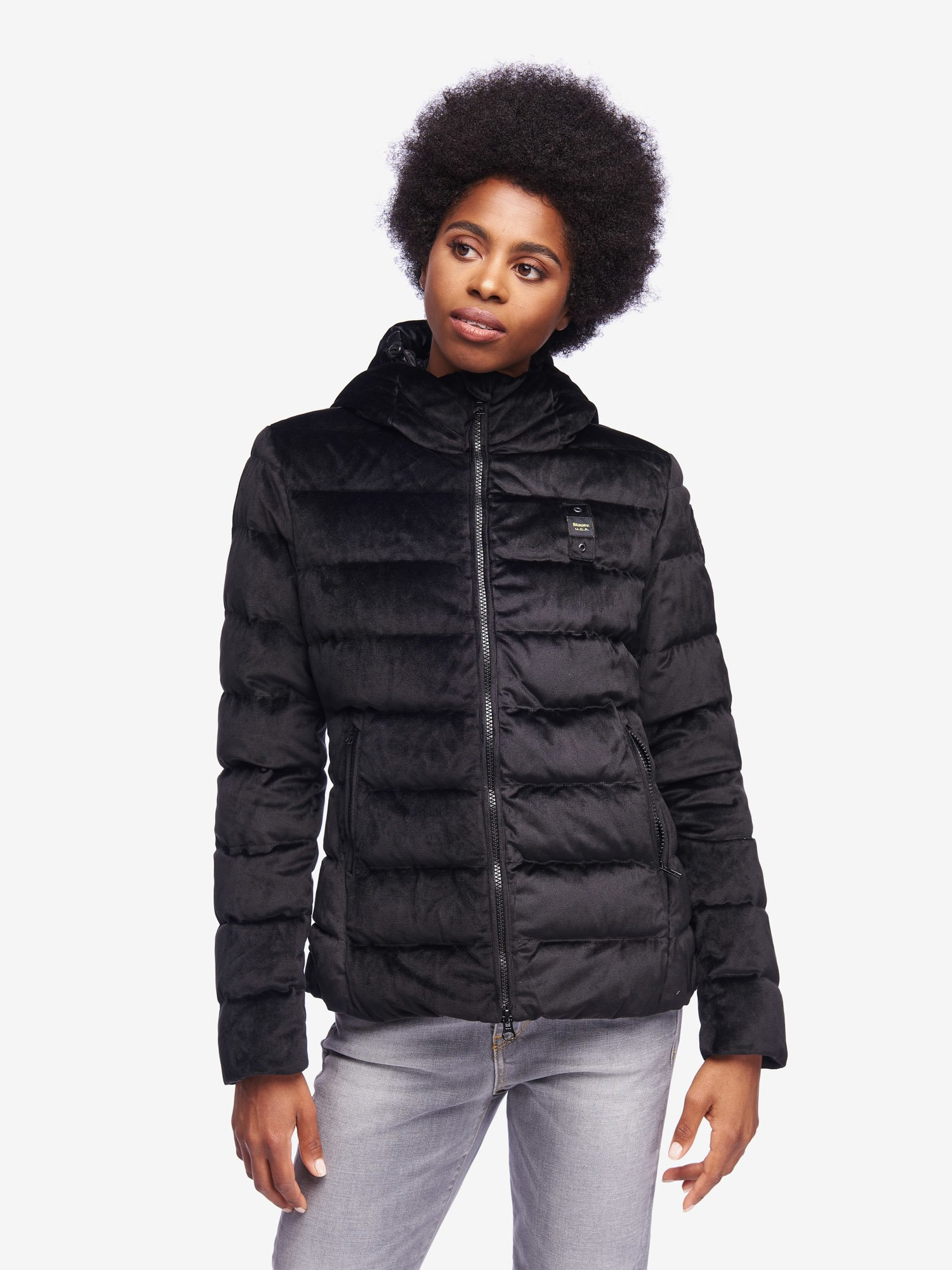 Blauer - PEARCE VELVETY DOWN JACKET - Black - Blauer