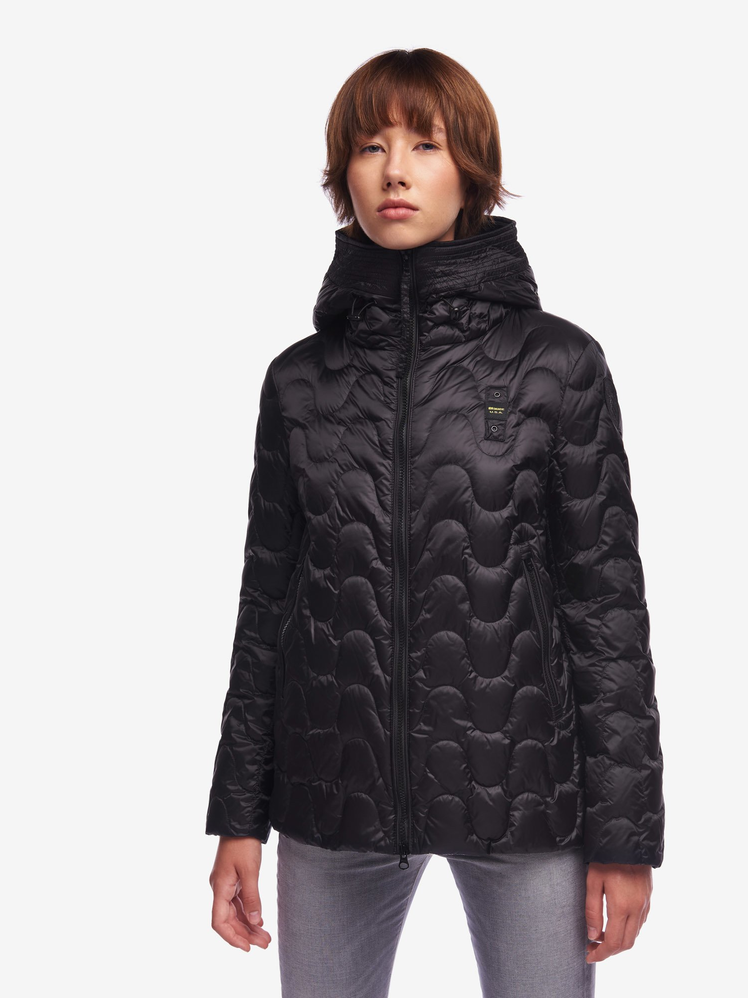 Blauer - DEAN DEEP WAVE DOWN JACKET - Black - Blauer