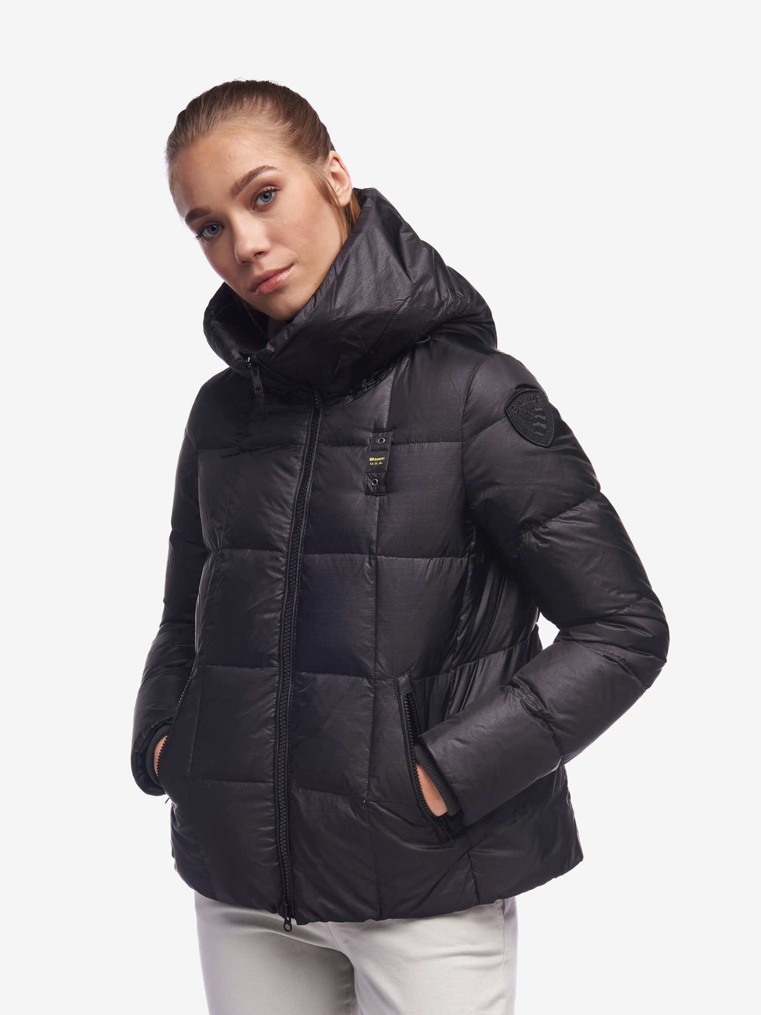 KAUR DOWN JACKET WITH AMPLE HOOD - Blauer