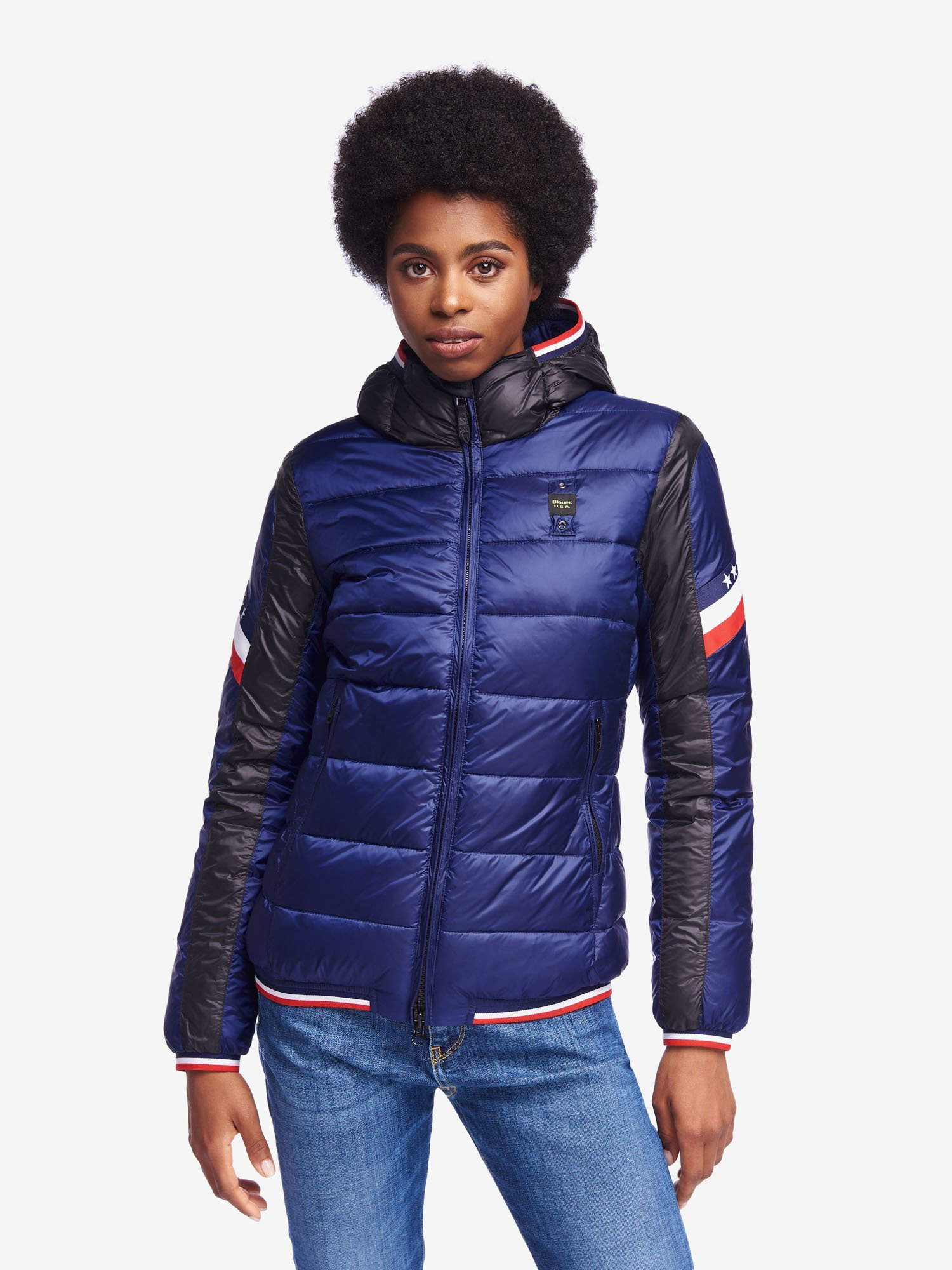 GARDNER BICOLOUR NYLON DOWN JACKET - Blauer