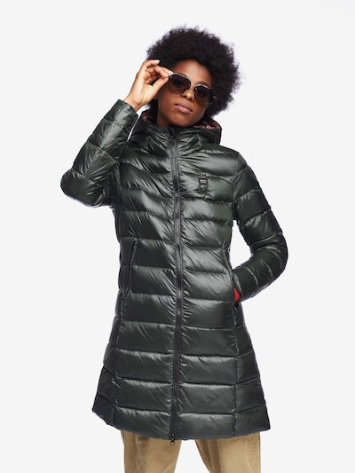 GEORGE LONG DOWN JACKET WITH HOOD