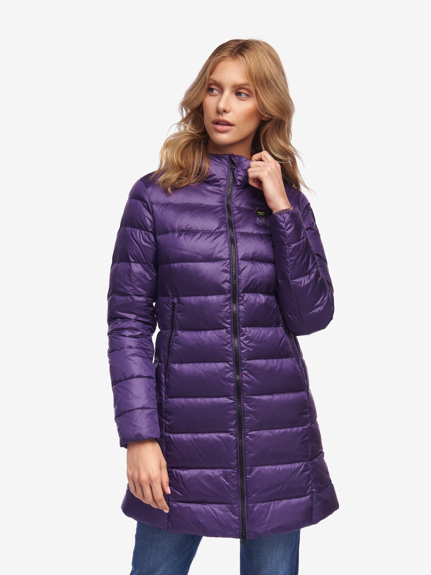 Blauer - GEORGE LONG DOWN JACKET WITH HOOD - Purple Ins. Ginger - Blauer
