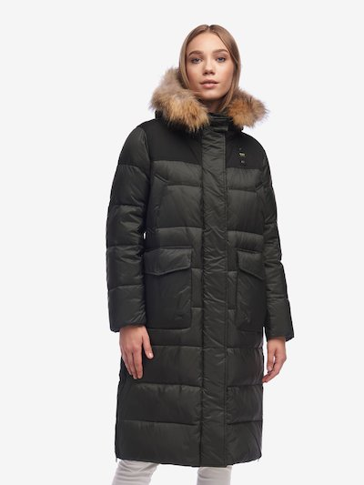 LAWRENCE LONG DOWN JACKET WITH SIDE SLITS