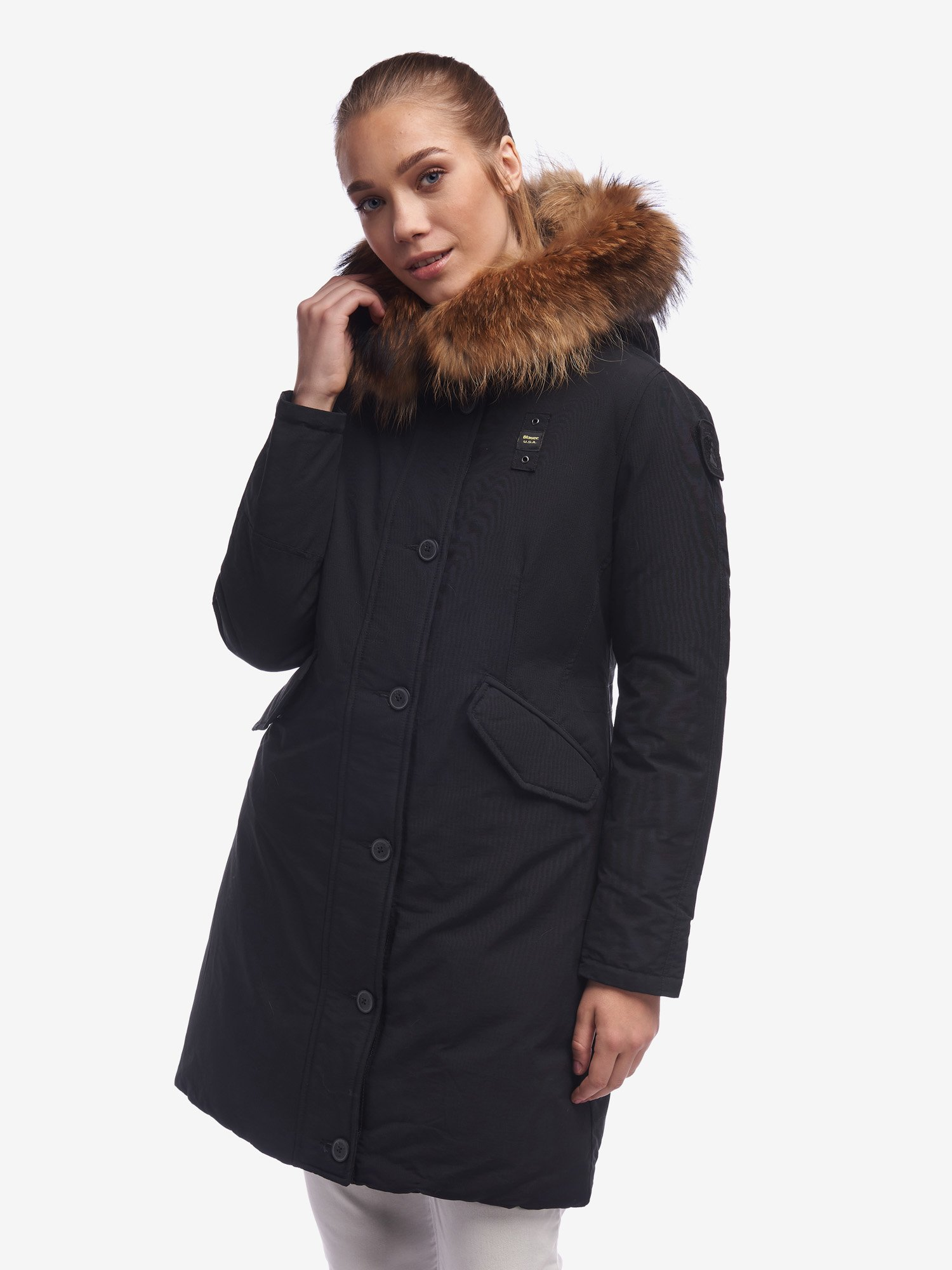 Blauer - WOODS PARKA IN LIGHT TASLAN - Black - Blauer