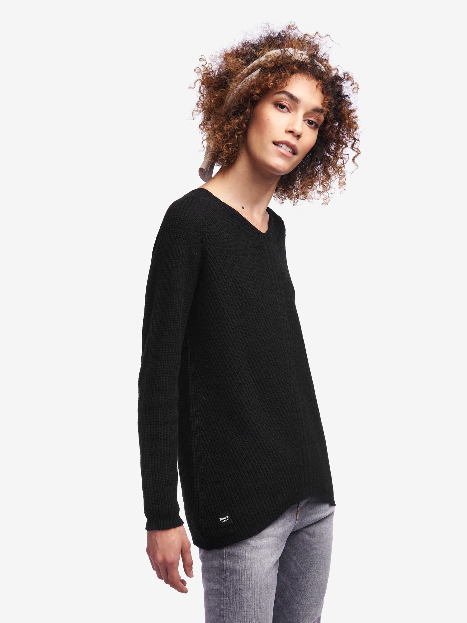 V-NECK SWEATER - Blauer