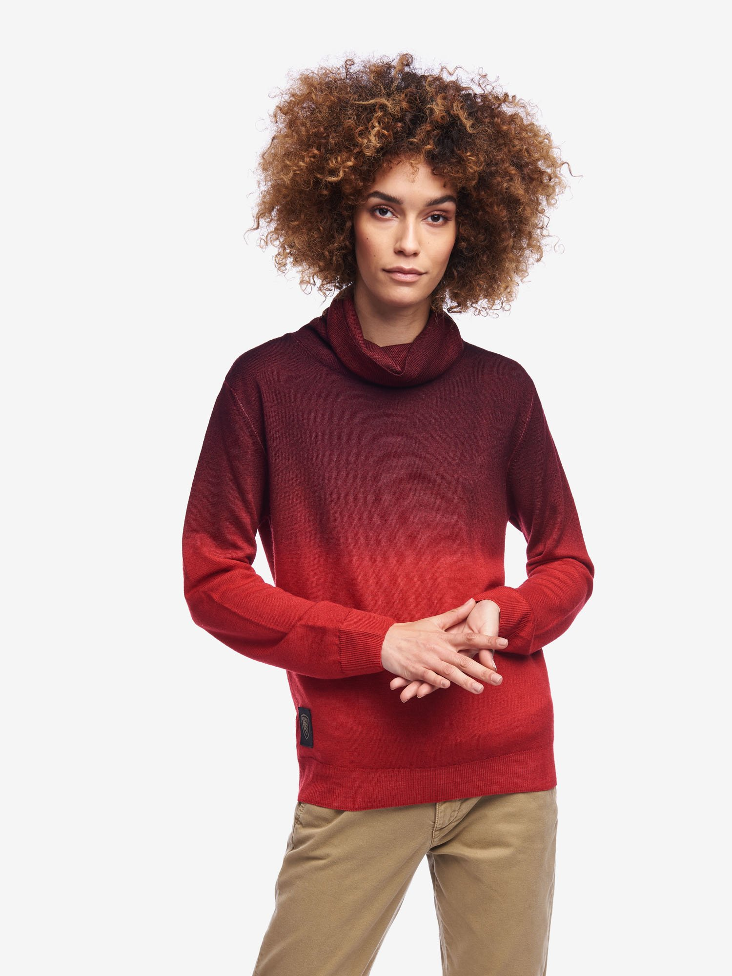 Blauer - SHADED TURTLENECK - Blackberry - Blauer