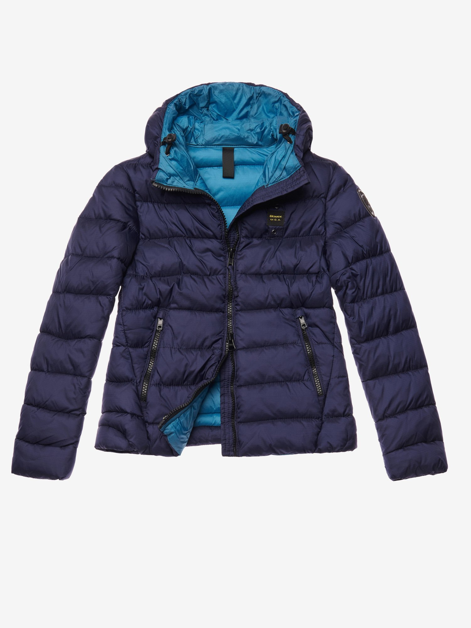 MARSH  BIO DOWN JACKET WITH HOOD - Blauer