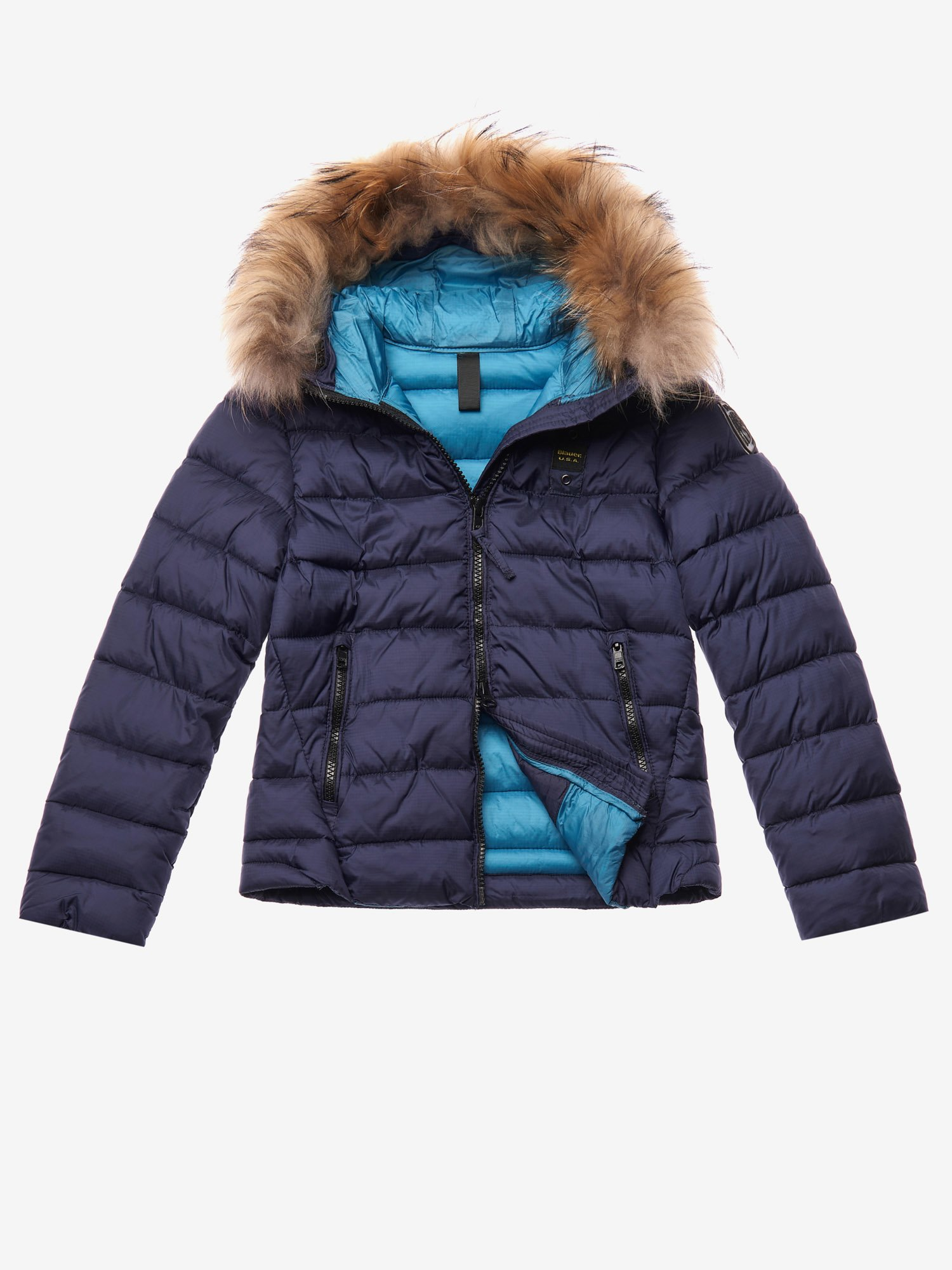 HOPKINS  BIO DOWN JACKET WITH HOOD - Blauer