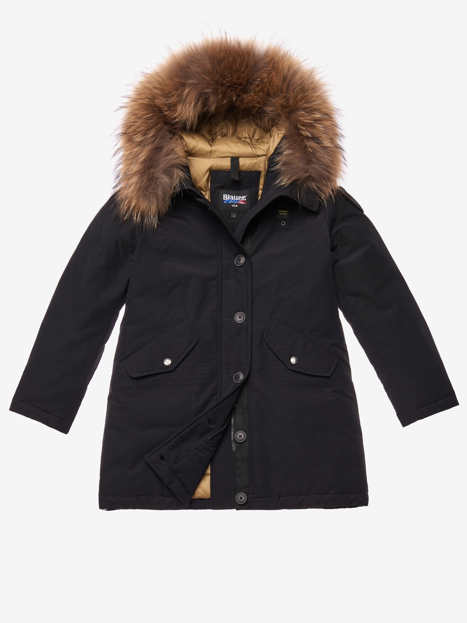 Blauer - BALL  PARKA IN LIGHT TASLAN - черный - Blauer
