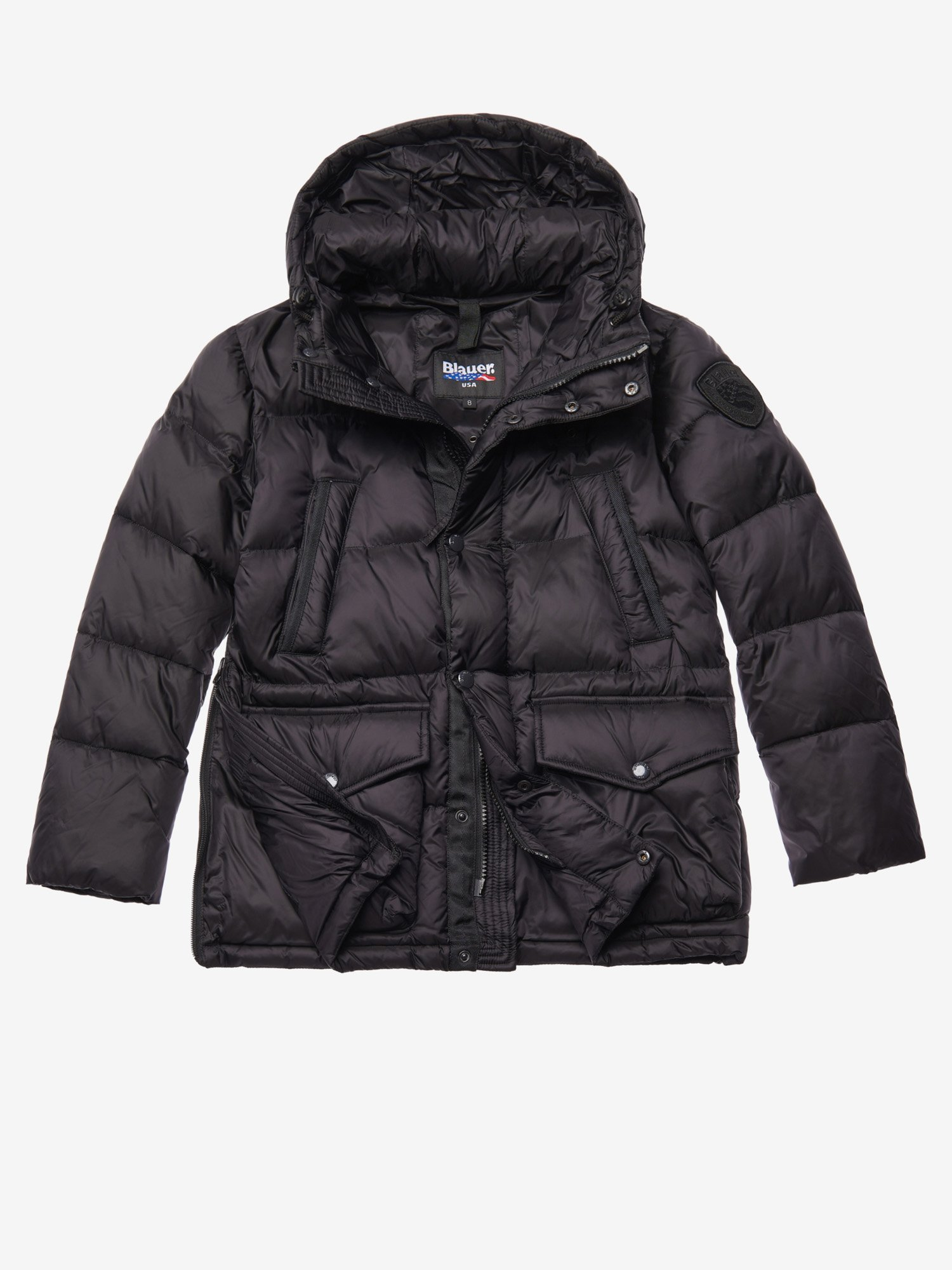 HUSSAIN LONG NYLON DOWN JACKET - Blauer