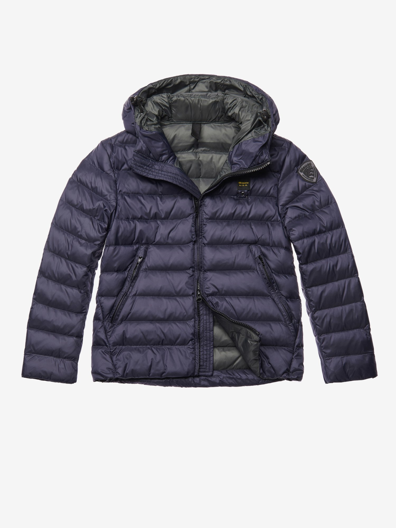JORDAN DOWN JACKET WITH ATTACHED HOOD - Blauer