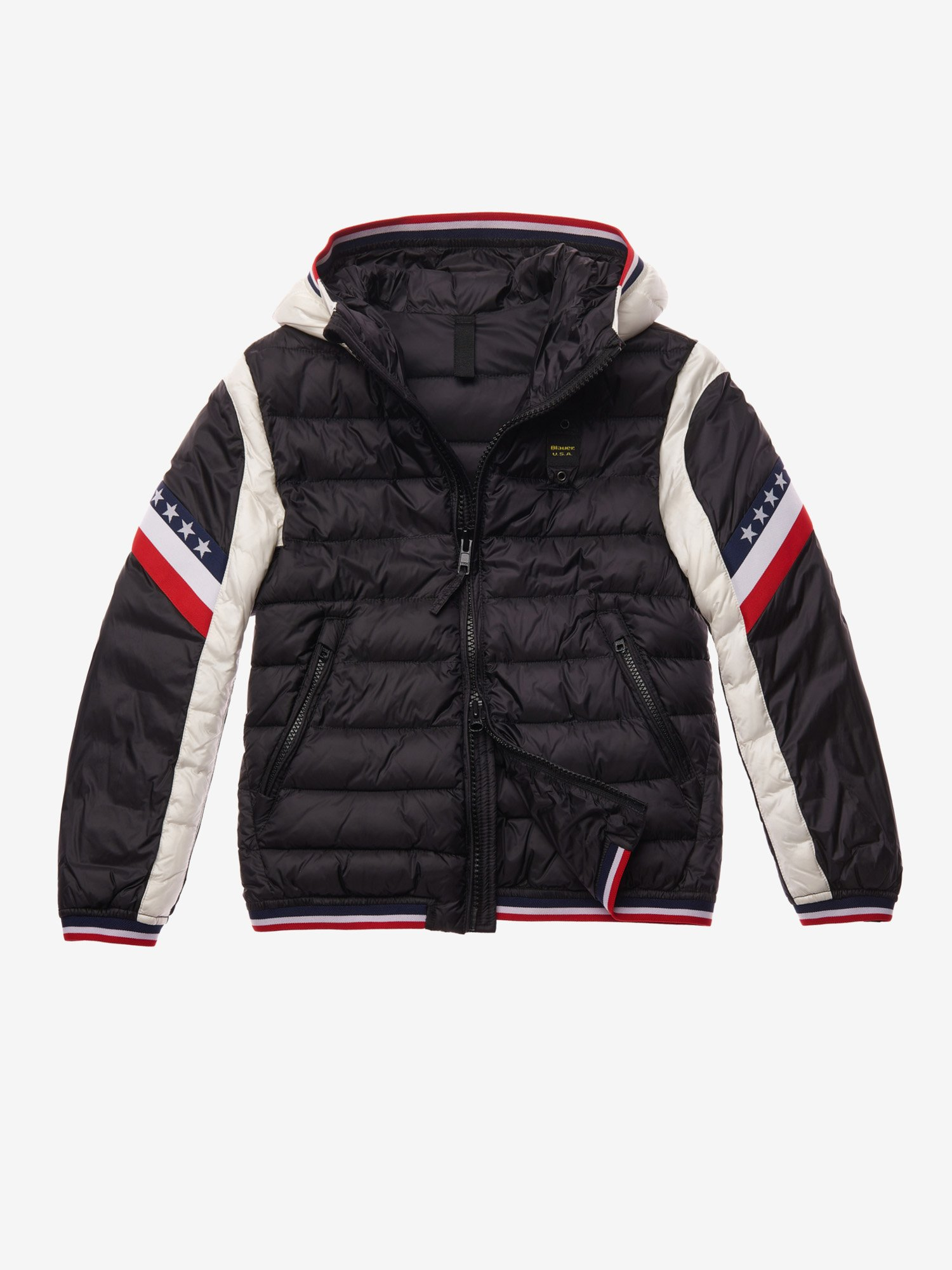 PERRY BICOLOUR NYLON DOWN JACKET - Blauer