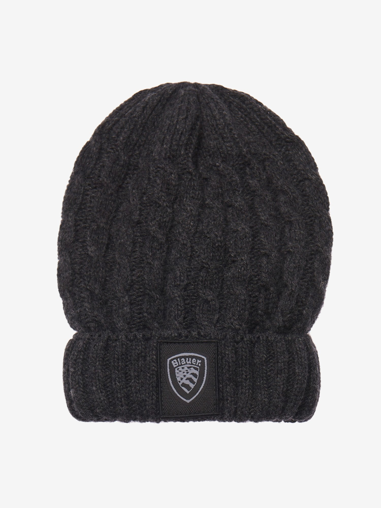 CABLE KNITTED BEANIE - Blauer