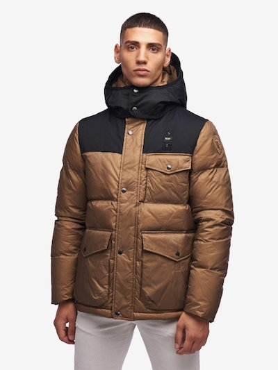 LLOYD LONG NYLON TASLAN DOWN JACKET