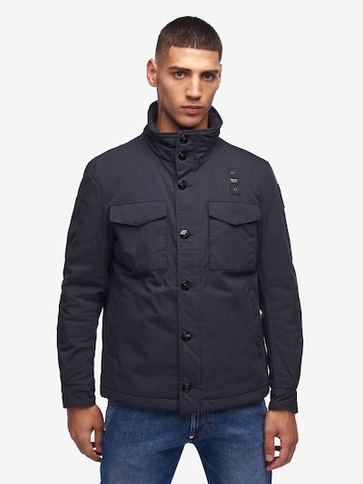 FIELD JACKET IN GABARDINA IMBOTTITO HUNTER