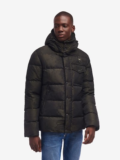 GIBSON PIXEL-EFFECT CAMOUFLAGE DOWN JACKET