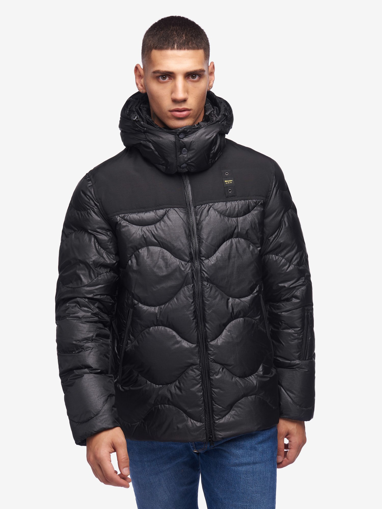 Blauer - ALI DOWN JACKET WITH THREE POCKETS - Black - Blauer