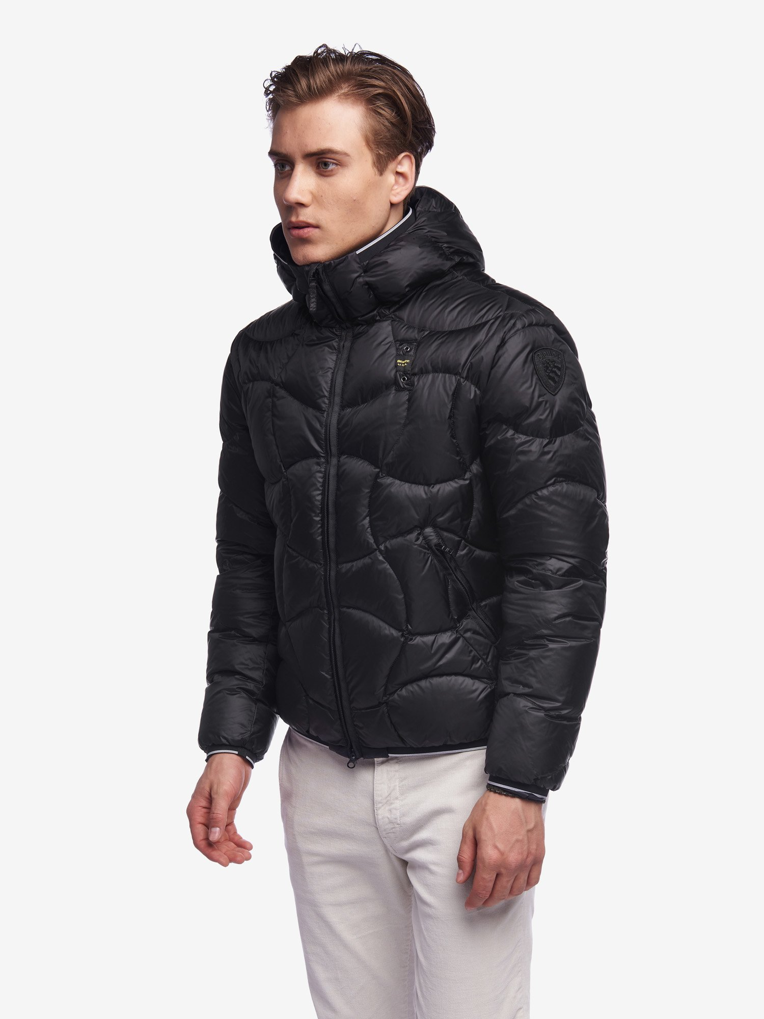 PEARSON DOWN JACKET WITH HOOD - Blauer