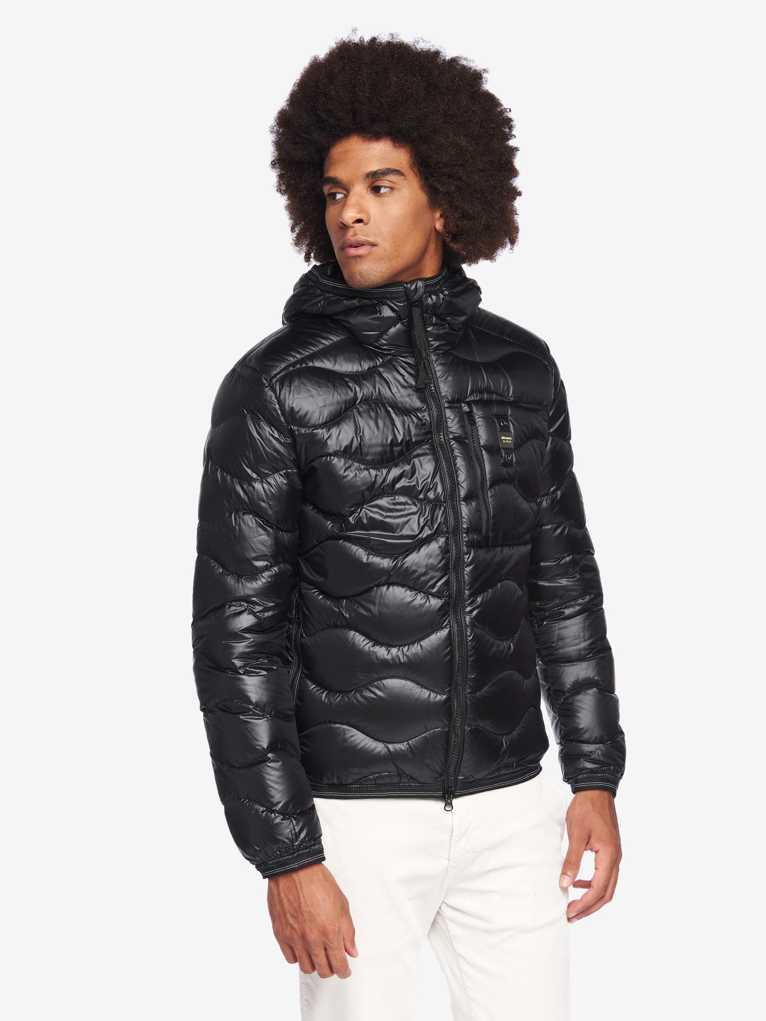 Blauer - BOOTH WAVE DOWN JACKET - Black - Blauer