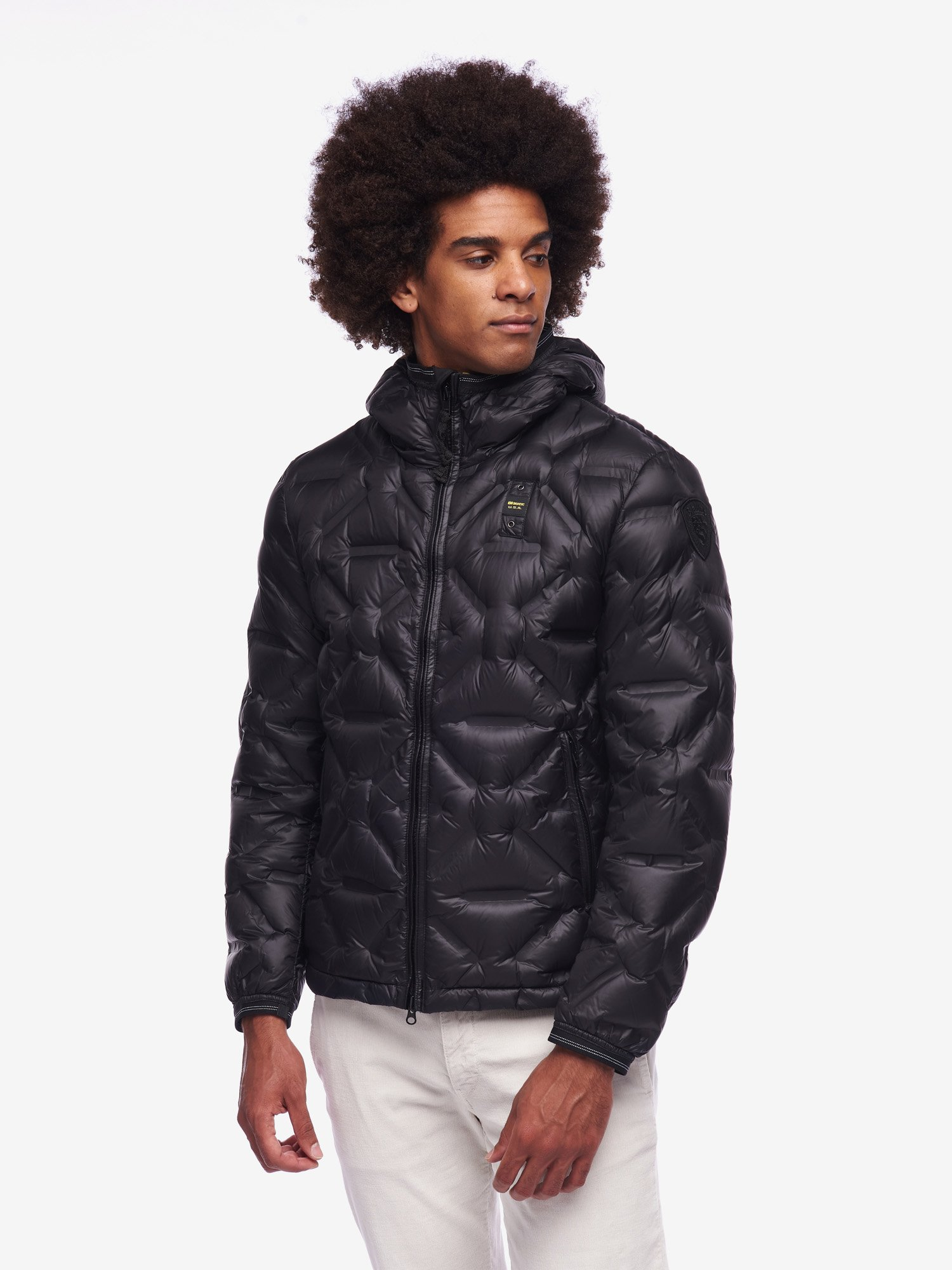 Blauer - GRANT DOWN JACKET WITHOUT STITCHING - Black - Blauer
