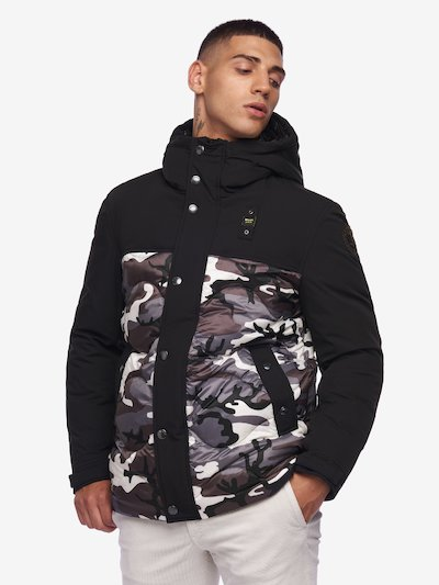 DAWSON BICOLOUR CAMOUFLAGE DOWN JACKET