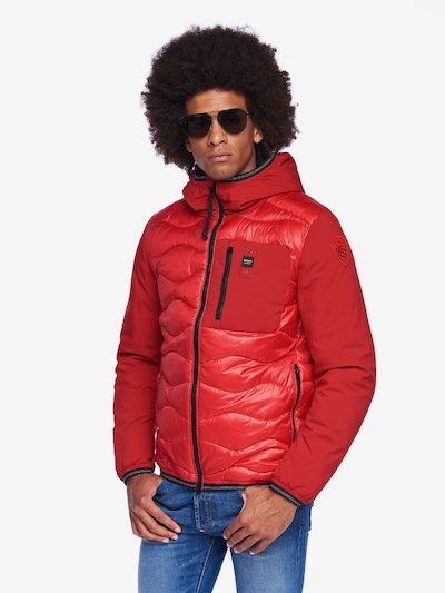 WEBB MICRO RIP-STOP NEOPRENE DOWN BLEND JACKET WITH HOOD