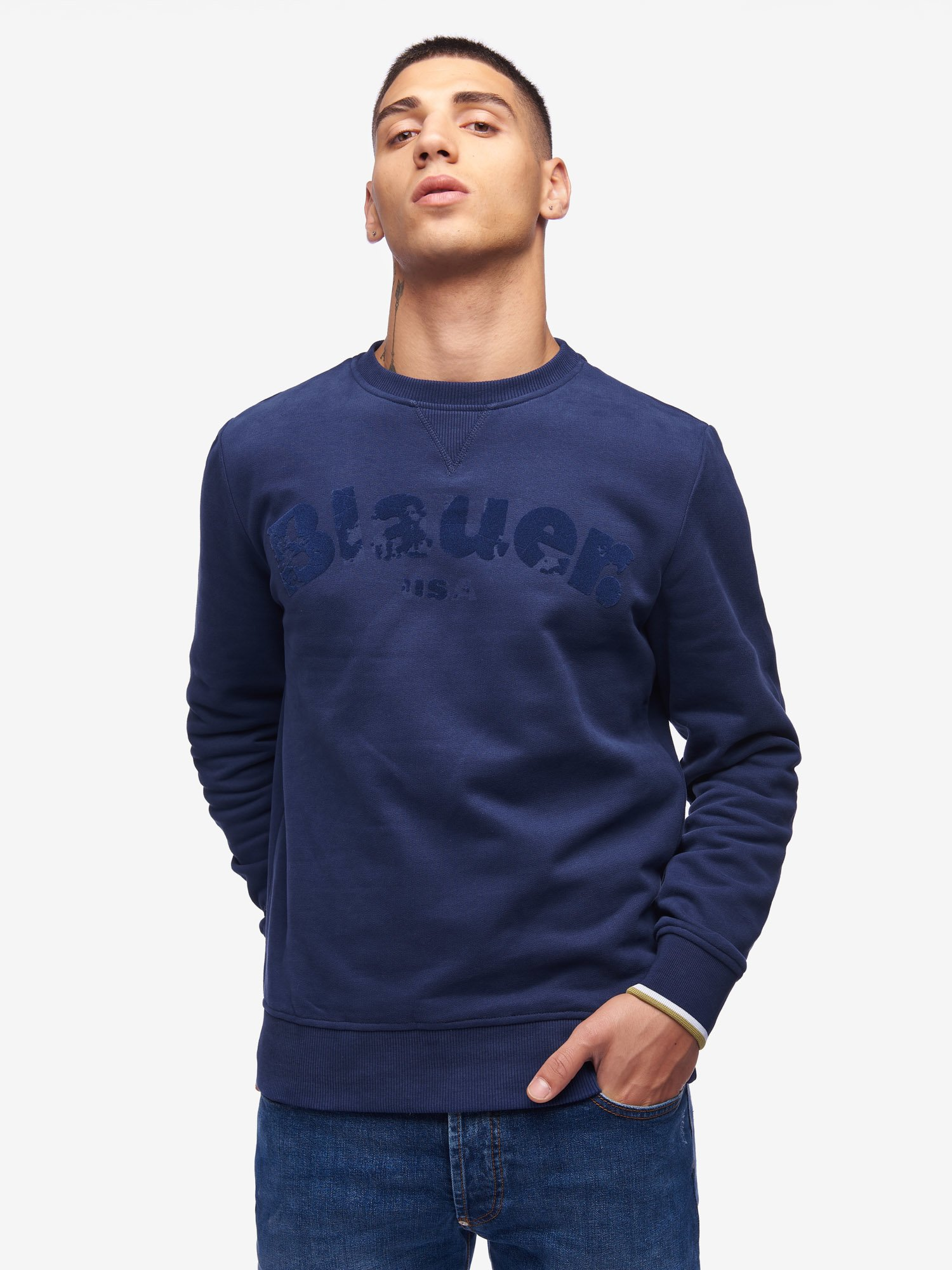 SOFT CREW NECK SWEATSHIRT - Blauer