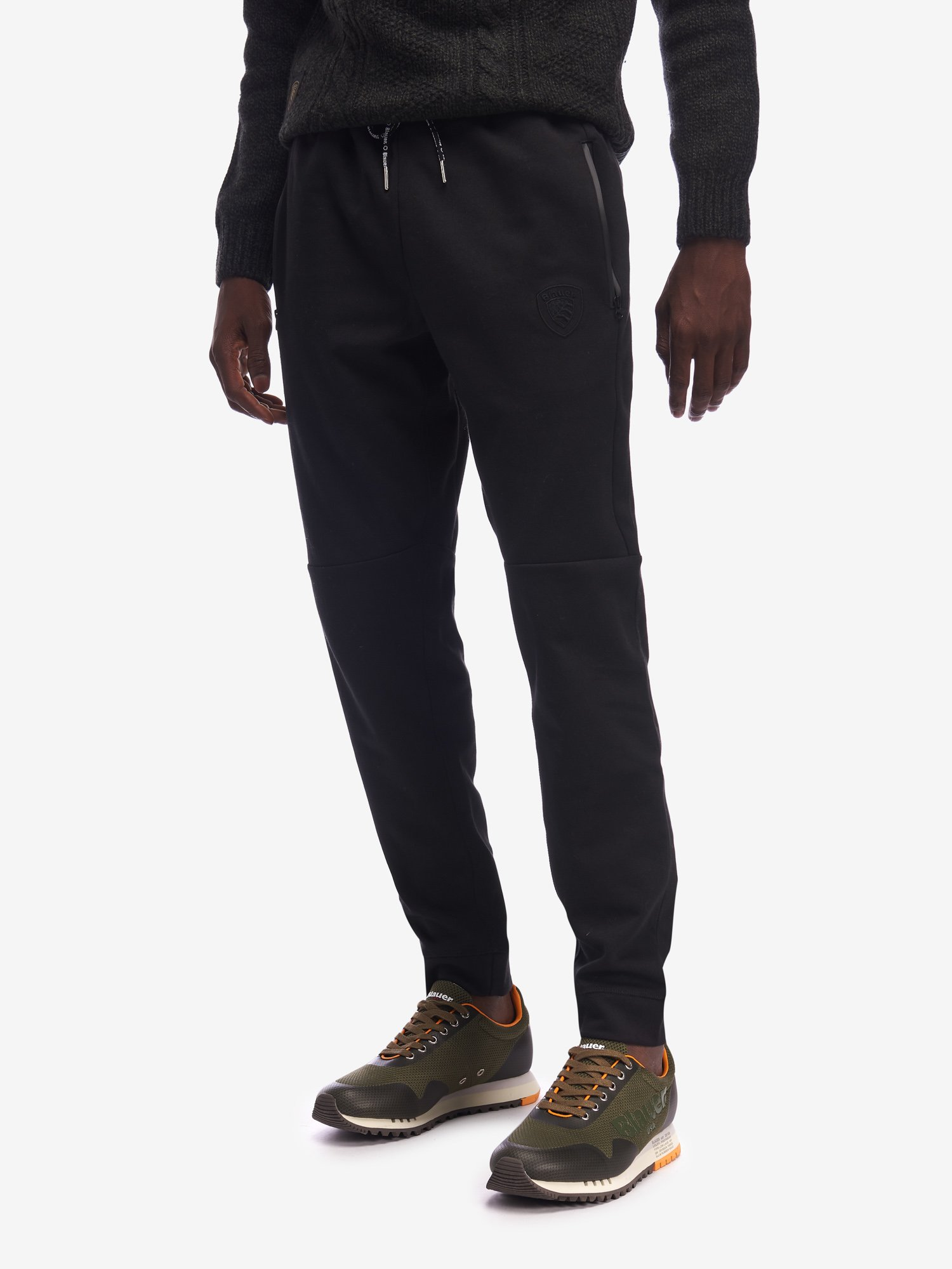 Blauer - COTTON-BLEND SWEATPANTS WITH ZIP POCKETS - Black - Blauer