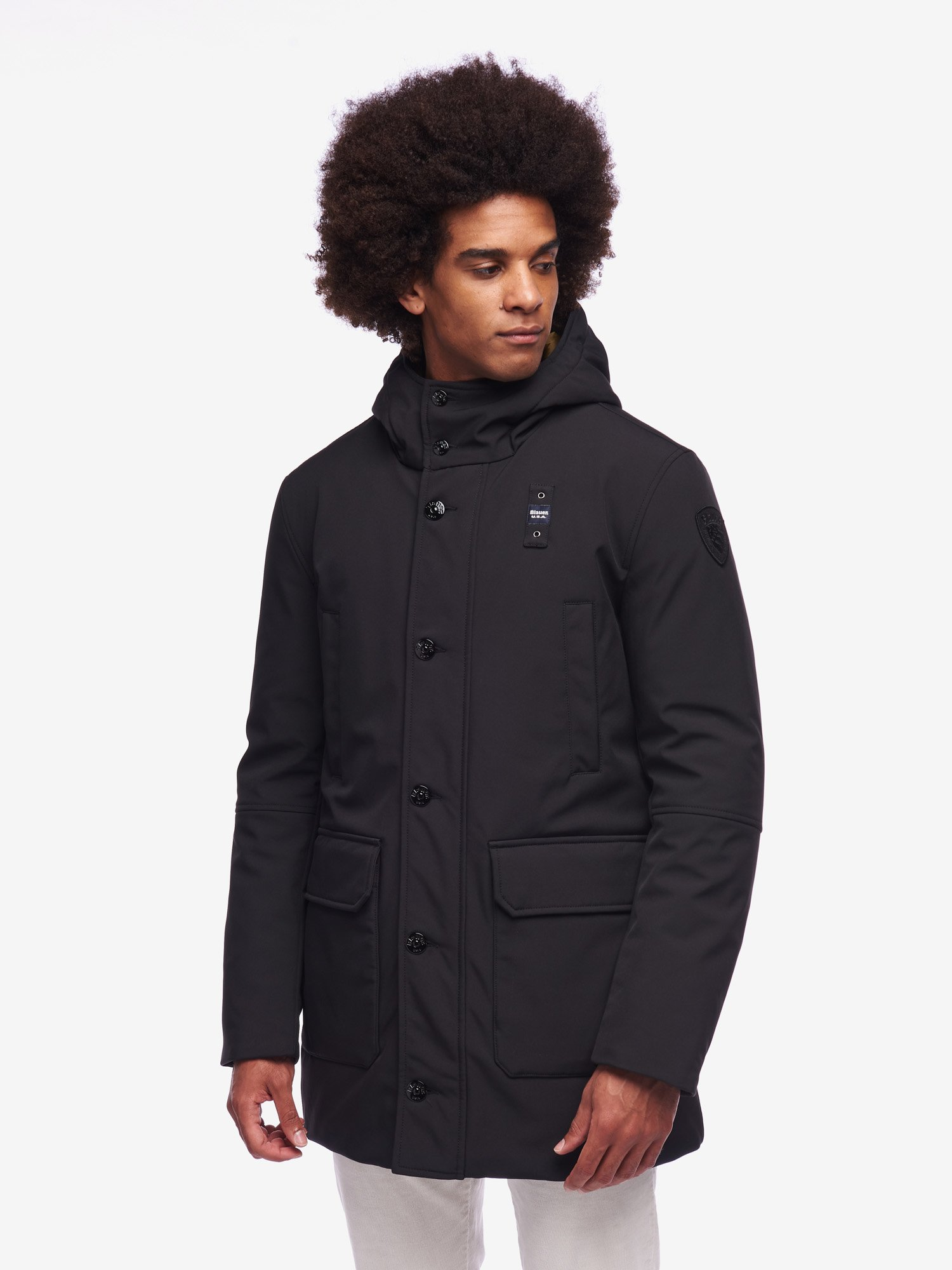Blauer - CHAMBERS LONG DOWN PARKA - Black - Blauer