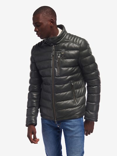 HUGHES PADDED LEATHER JACKET