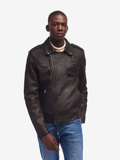BLOUSON EN CUIR RUGGED  SIMPSON
