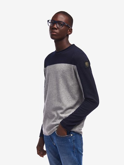 BICOLOUR CREW NECK SWEATER