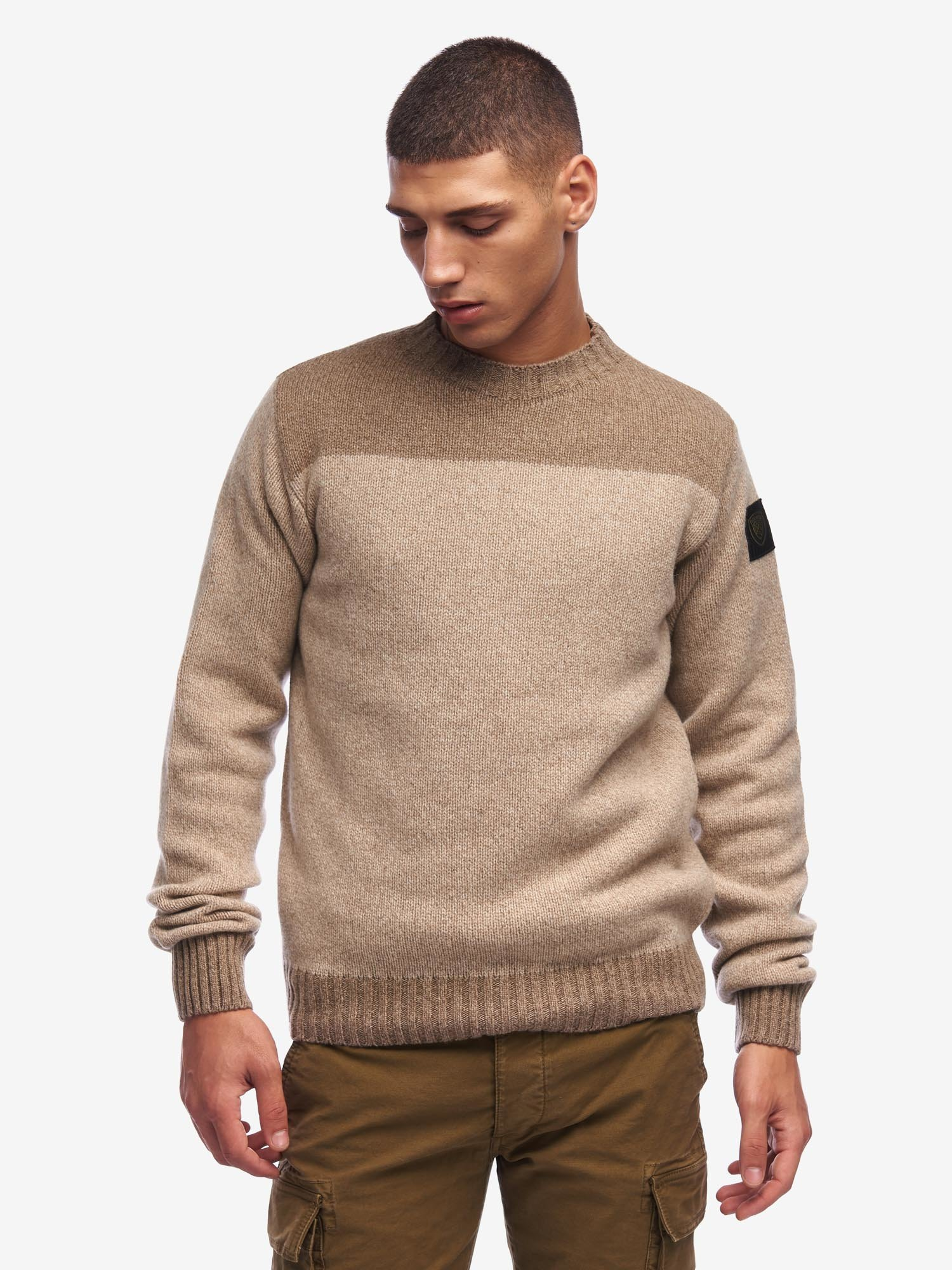 MOULINE CREW NECK SWEATER - Blauer