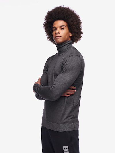 PULL COL MONTANT SIMPLE POUR HOMME