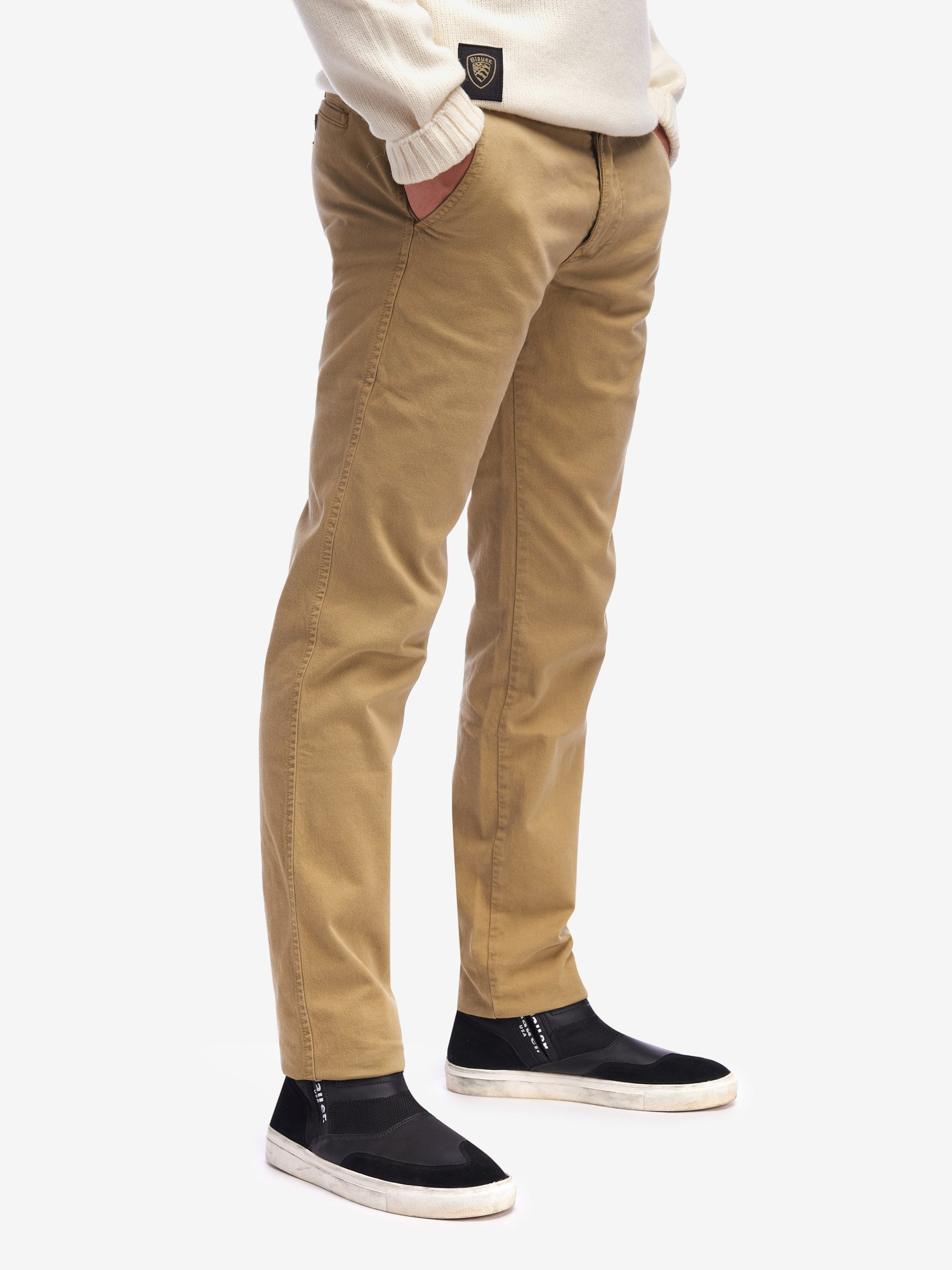 PANTALONE CHINO STRETCH IN GABARDINA - Blauer
