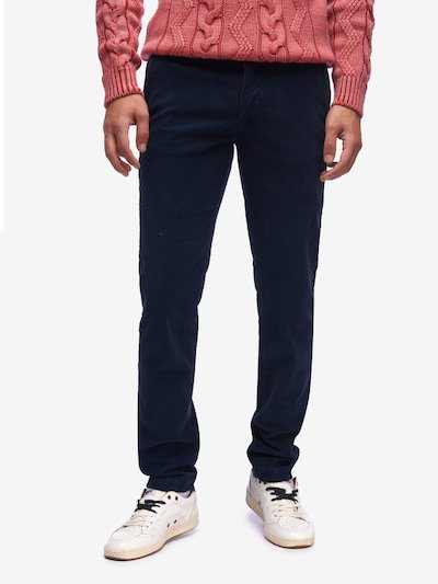 STRETCH PINWALE CHINO TROUSERS