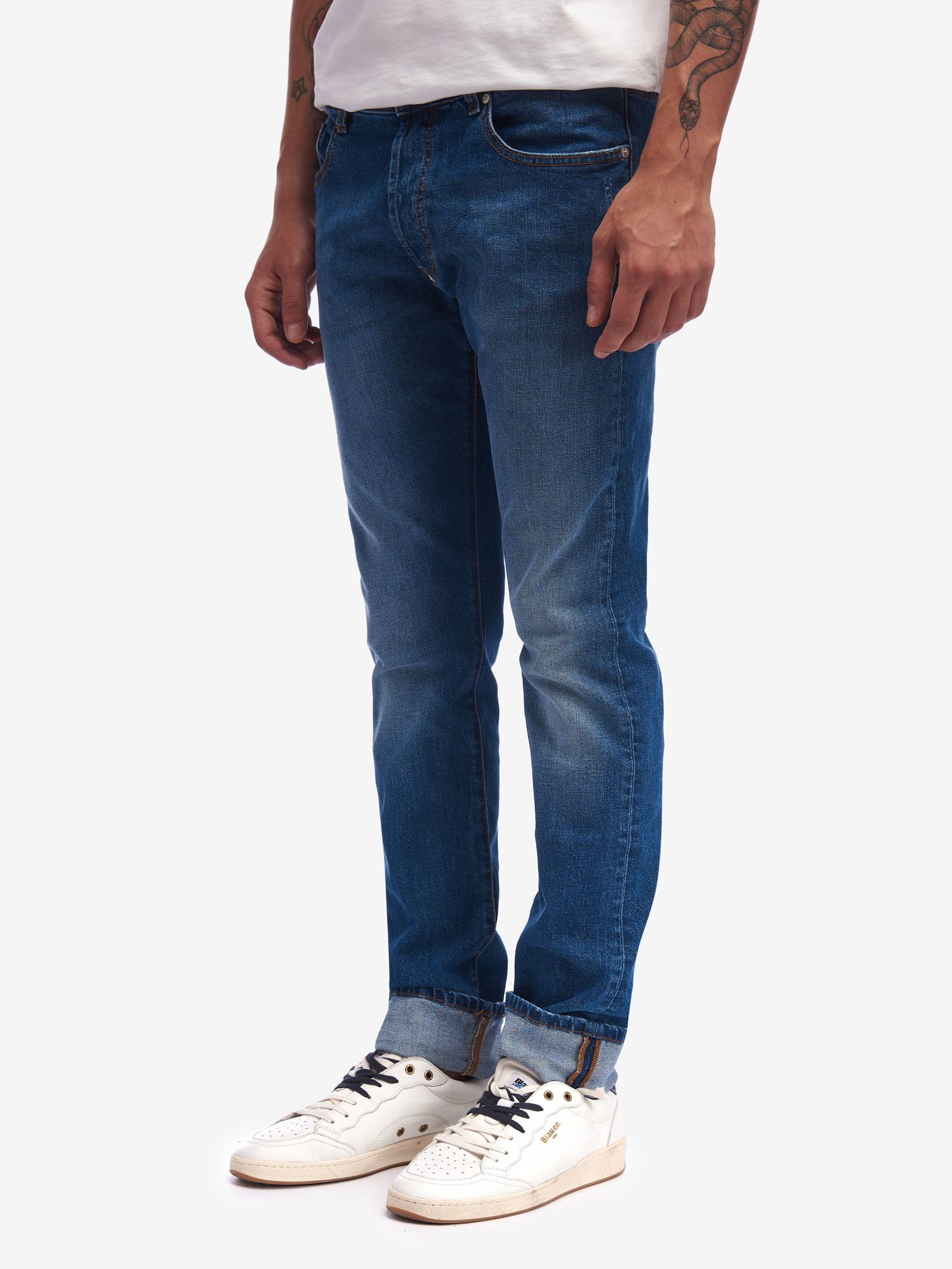 STRETCH DENIM TROUSERS - Blauer