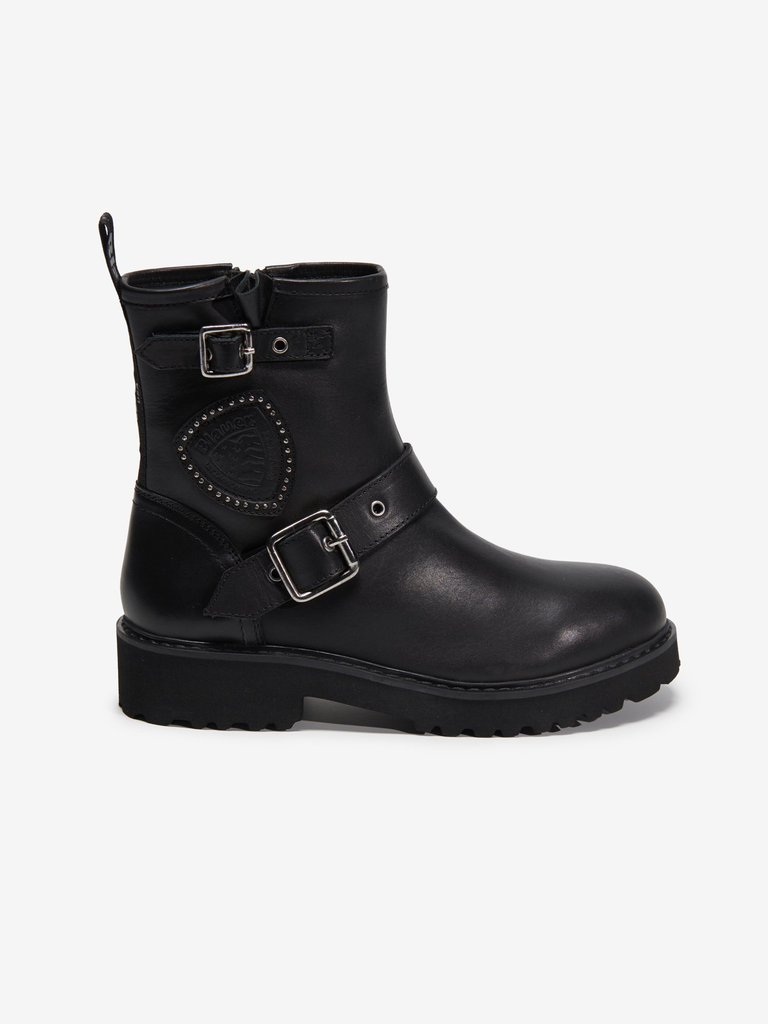 IRVINE LEATHER BOOTS WITH BUCKLE CLOSURE - Blauer