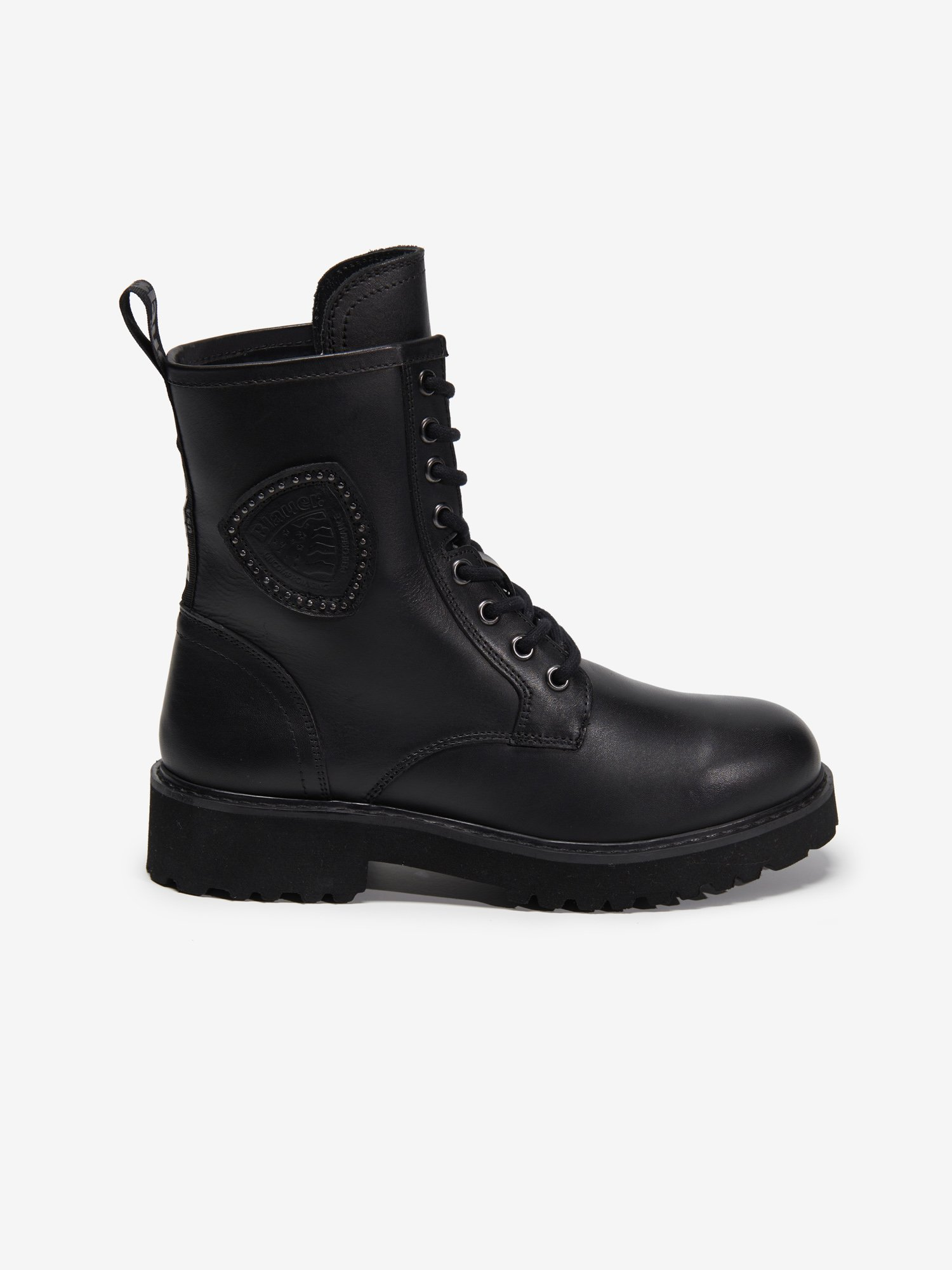 IRVINE LEATHER LACE UP BOOTS - Blauer