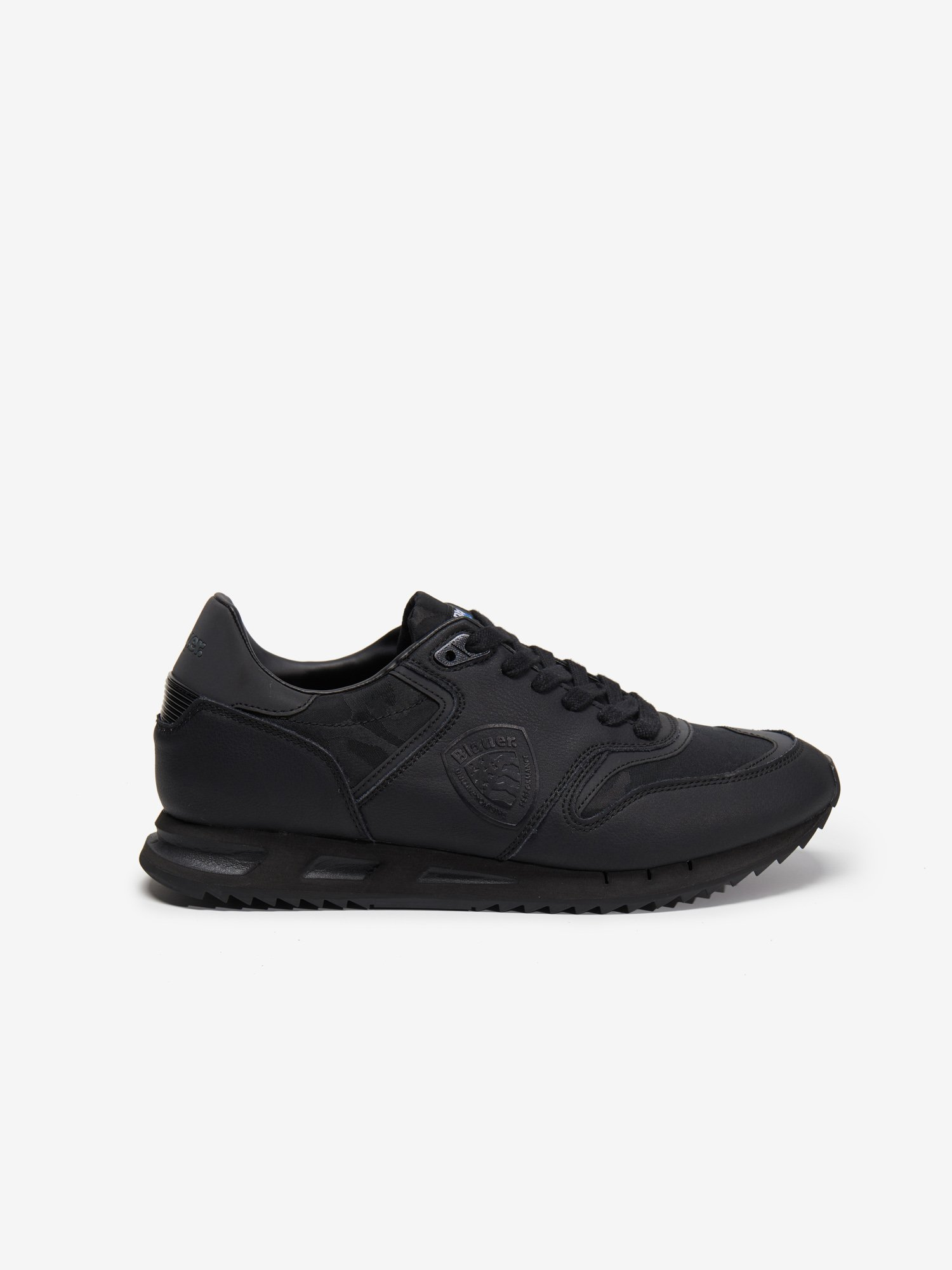 BLACK MEMPHIS LEATHER NYLON RUNNING - Blauer