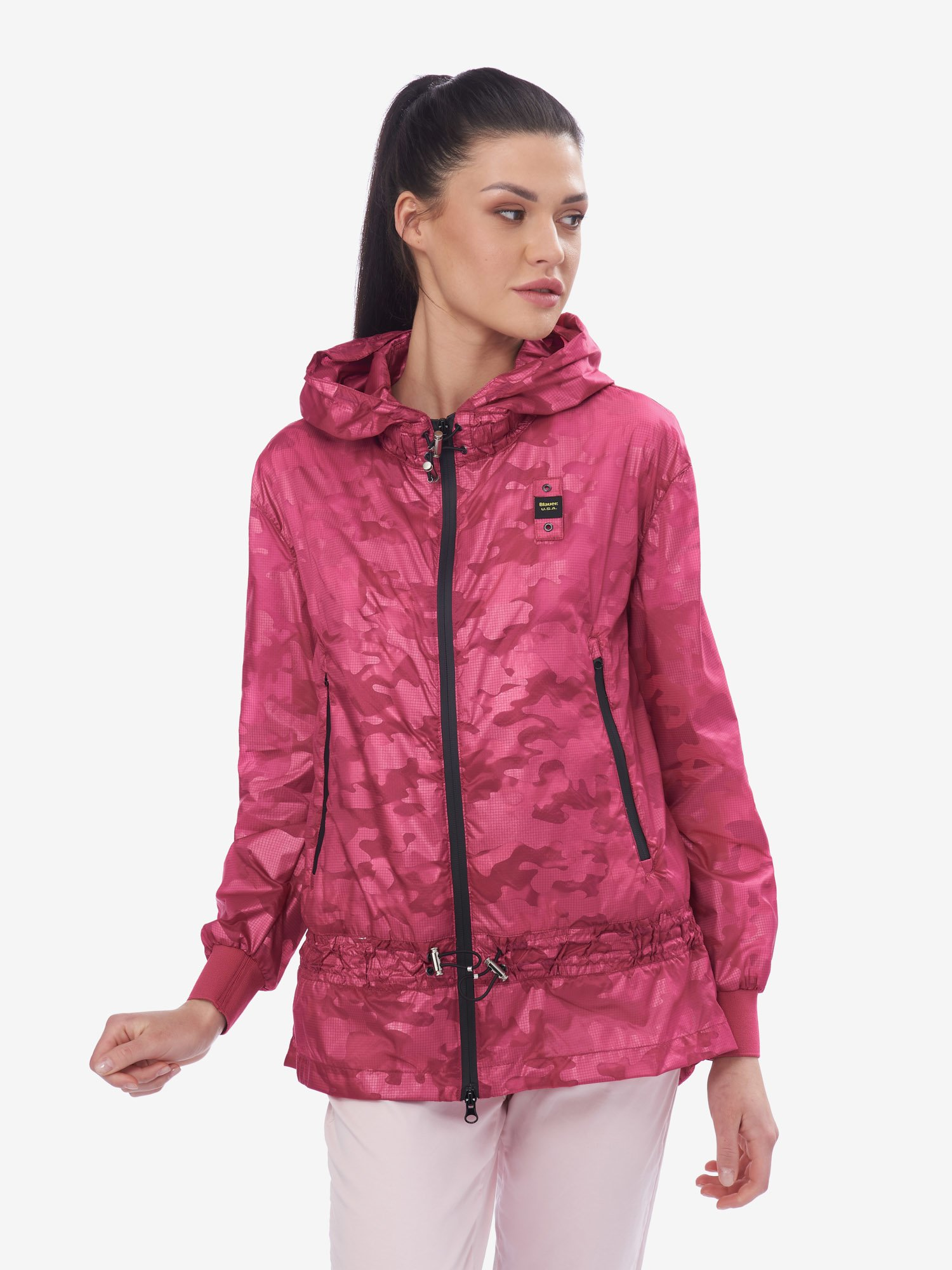 Blauer - ULTRA LIGHT LONG UNLINED JACKET - Shocking Pink - Blauer