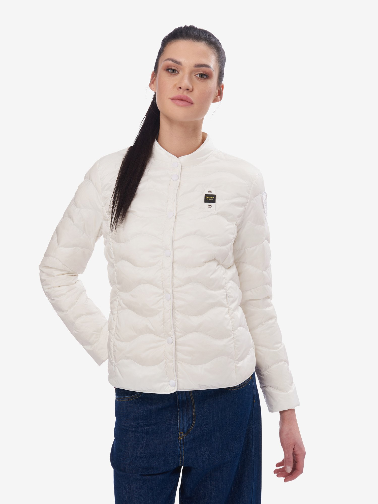 Blauer - REED WAVE-QUILTED DOWN JACKET - white - Blauer